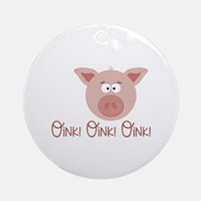 Pig Oink Ornament (Round)