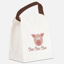 Pig Oink Canvas Lunch Bag