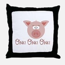 Pig Oink Throw Pillow
