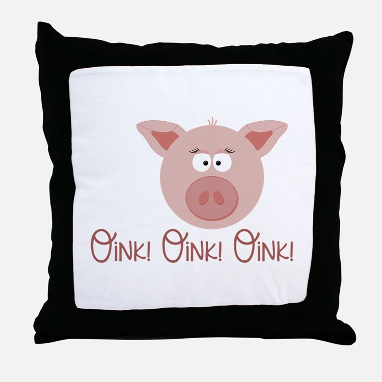 Pig Oink Throw Pillow