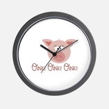 Pig Oink Wall Clock