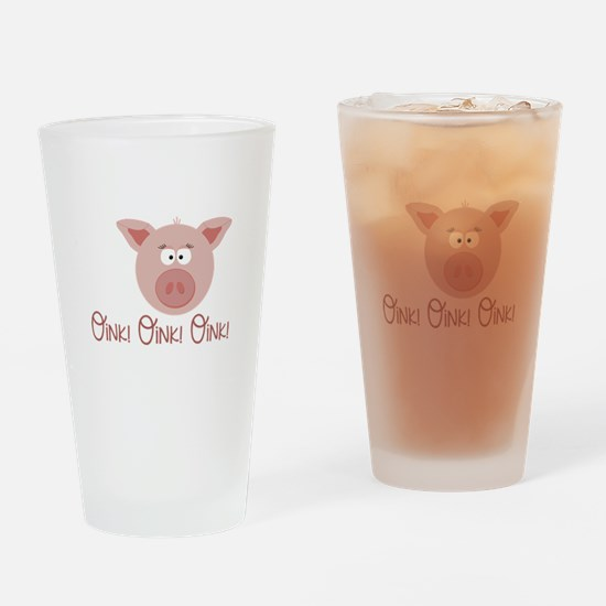 Pig Oink Drinking Glass