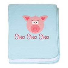 Pig Oink baby blanket
