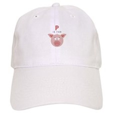 P Is For Pig Baseball Baseball Cap