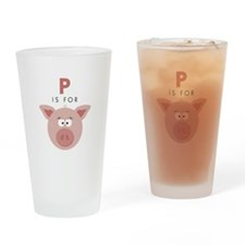P Is For Pig Drinking Glass