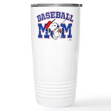 Snoopy Baseball Mom Travel Mug
