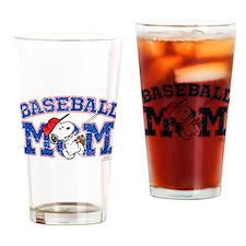 Snoopy Baseball Mom Drinking Glass