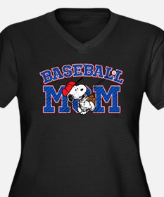 Snoopy Baseball Mom Plus Size T-Shirt