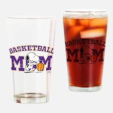 Snoopy Basketball Mom Drinking Glass