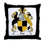Say Family Crest Throw Pillow