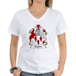 Saxton Family Crest Women's V-Neck T-Shirt