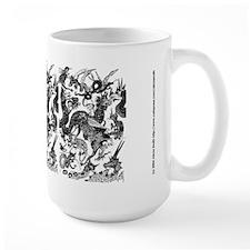 Black Multidragon Mug