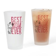 Snoopy Best Mom Ever Drinking Glass