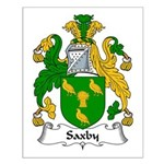 Saxby Family Crest Small Poster