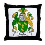Saxby Family Crest Throw Pillow