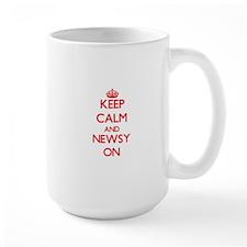 Keep Calm and Newsy ON Mugs