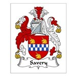Savery Family Crest Small Poster