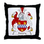 Savery Family Crest Throw Pillow