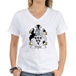 Savage Family Crest Women's V-Neck T-Shirt