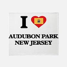 I love Audubon Park New Jersey Throw Blanket