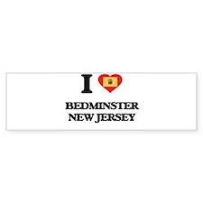 I love Bedminster New Jersey Bumper Bumper Sticker