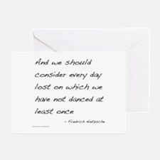 Nietzsche on Dance Greeting Card