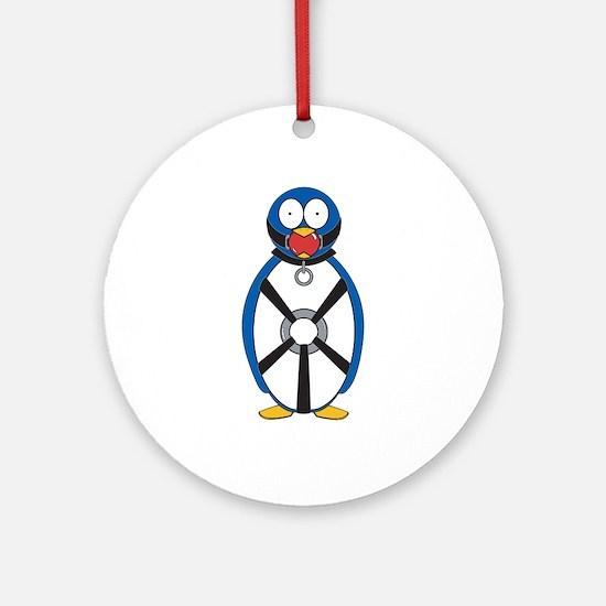 Naughty Penguin Ornament (Round)