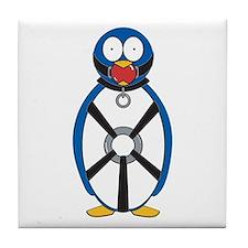 Naughty Penguin Tile Coaster