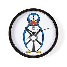 Naughty Penguin Wall Clock