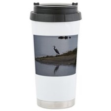 Great Blue Heron Travel Coffee Mug