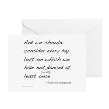 Nietzsche on Swing Dance Greeting Card