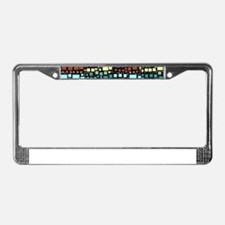 Block on Block License Plate Frame