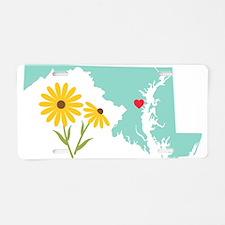 Maryland State Outline Black Eyed Susan Flower Alu