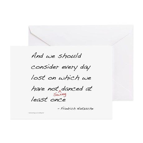 Swing Dance Nation Greeting Cards (Pk of 20)