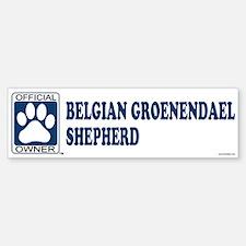 BELGIAN GROENENDAEL SHEPHERD Bumper Bumper Bumper Sticker