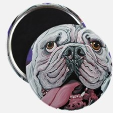 White English Bulldog Magnets