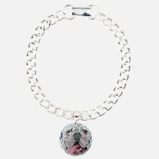 White English Bulldog Bracelet