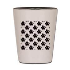 Cat Paw Print Pattern Shot Glass