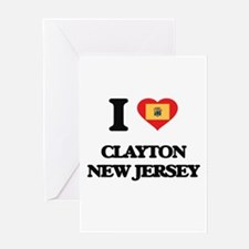 I love Clayton New Jersey Greeting Cards