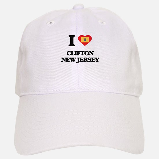 I love Clifton New Jersey Baseball Baseball Cap