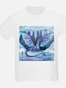 Ice Dragon Fantasy Art Illustration by Mol T-Shirt