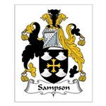 Sampson Family Crest Small Poster