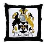 Sampson Family Crest Throw Pillow