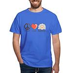 Peace Love Heart Beethoven T-Shirt Royal Blue