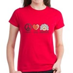 Peace Love Heart Beethoven Women's T-Shirt Red