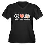 Peace Love Beethoven Plus Size V-Neck T-shirt