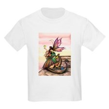 Dragons Orbs Fairy and Dragon Illustration T-Shirt