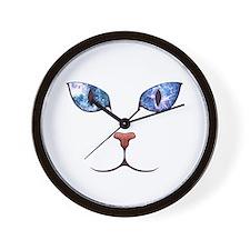 Blue Eyes Space Cat Wall Clock