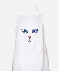 Blue Eyes Space Cat Apron