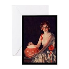Pumpkin Lady Greeting Card